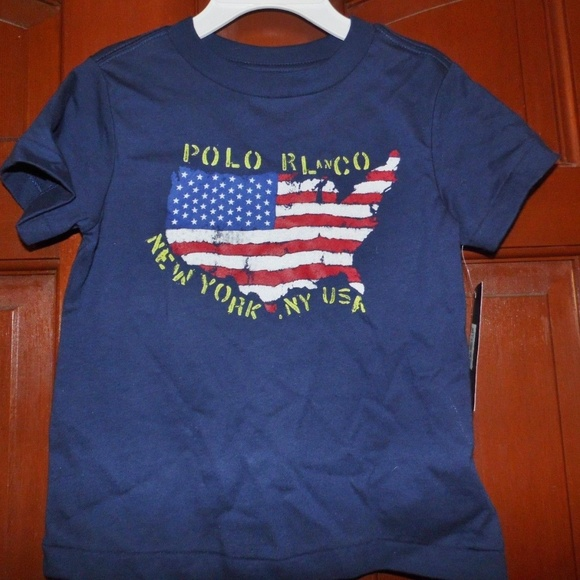 d669b45c58f Boy s Polo Ralph Lauren USA Flag T-shirt 2T NWT